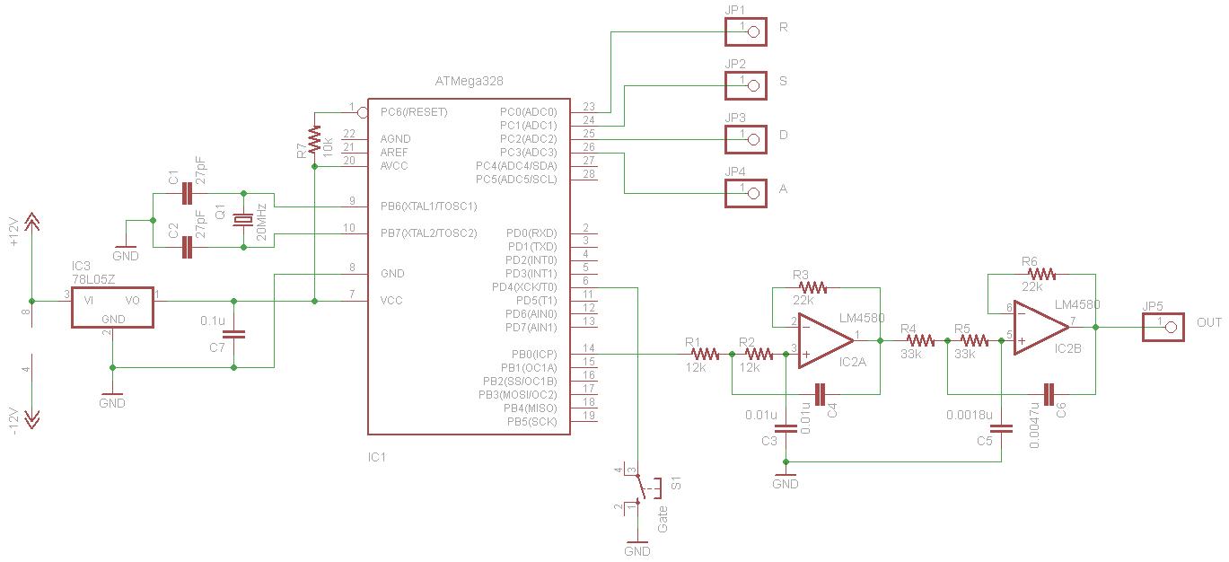 avr atmega328 micro processor is used.